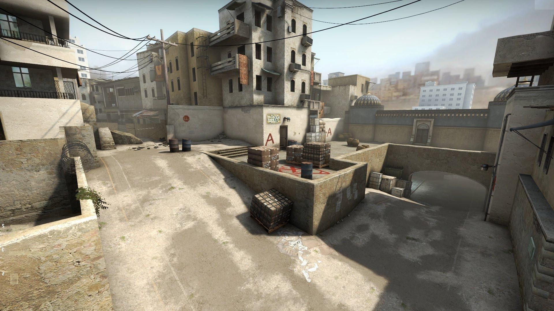 Карта de dust2 из csgo 2